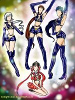Sailor Starlights and Kakyuu by Twilight-zion