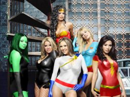 DC Superheroines Photoshop by Rene-L