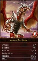 Armored Red Dragon by KilaliPop