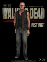 Merle Dixon - The Walking Dead Survival Instincts by JhonyHebert