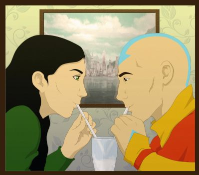 Happier Times - Lin and Tenzin by shango266