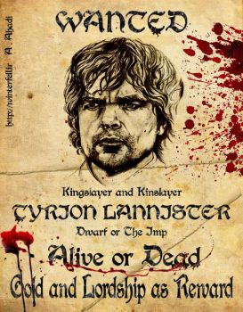 Tyrion Lannister wanted poster by Alp0ne