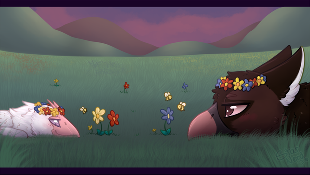 Flowers and Bees by Star-Nerd