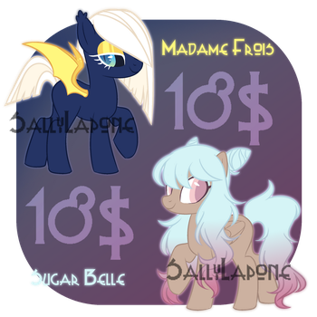 Adoptable Duo! #38 [CLOSED] by SallyLapone