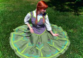 Anna's summer skirt in a circle by mboes