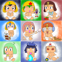 Baby Keroro and Friends by Sutata
