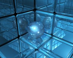 Boxes and a glassball by Kennieh