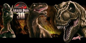 Jurassic Park 3D by RabidSkwerl
