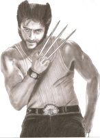 Hugh Jackman as Wolverine by Slayerlane