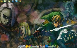 The Legend of Zelda Skyward Sword Windows 7 Theme by joelpf3