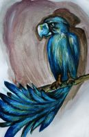 blue bird by away-with-the-fae