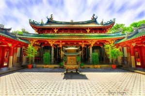 Temple courtyard by sifu