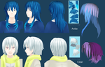 Clear & Aoba hair by PolygonCount