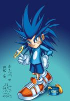 Kid Sonic by Kuma-Team