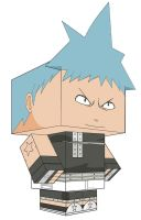 BLACK STAR  souleater PAPERTOY by animepapertoys