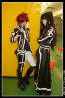 Lavi and Kanda in the mensa by Firiless