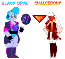 Black Opal And Chalcedony - Gem OTA Adopt - CLOSED by Chobutt