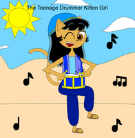 The Teenage Drummer Kitten Girl title cover by Magic-Kristina-KW