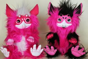 Two Fucsia Pikopos (Comissions) by CustomLovers