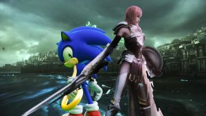 Sonic the Hedgehog and Claire 'Lightning' Farron by SonicChaos1000