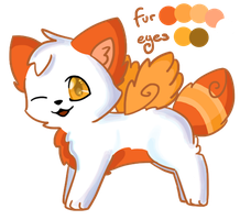 Fire Fox Adoptable ~Closed~ by Clouded-Sky