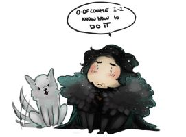 GoT - CHIBI Jon Snow by Mebon