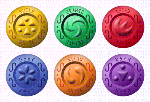 OoT Medallions Redesign... Buttons!? by Sarinilli