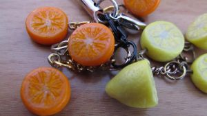 Oranges cellphone charms by damnheliotrope