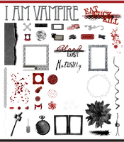 True Blood / Vampire: Word Art and Clear Cut PNG 4 by Riogirl9909stock
