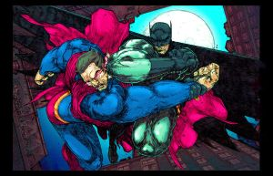 Dark Knight vs. Man of Steel 2 by TaylorGarrity