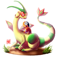Flygon - 135 Brazilian Pokedex - Hoenn by takytoh
