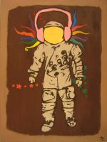 Vintage Spaceman - Painting 2 by Hutzon