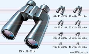 Binoculars Icon by science-icons