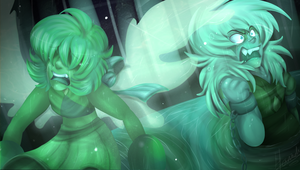Lapis Lazuli , Jasper  - Trapped as Malachite by Sniperisawesome