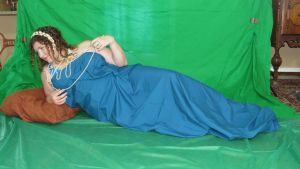 Mucha Inspired - Pearl Reclined 2 by HiddenYume-stock