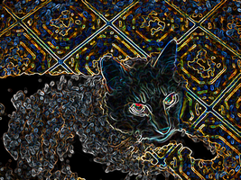 Here is my cat bending reality. by NephilV