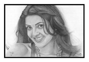 Kajal Agarwal - Graphite on A3 by dominic8