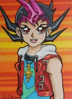 Yuma ACEO card by LadyNin-Chan