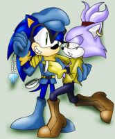 Sonic and Blaze Cop and robbers play by Moon-Shyne