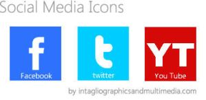 Free Social Media Icons by IntaglioGraphics
