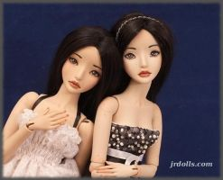 Two sisters by JRDolls