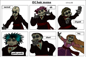 Oc hair meme by Ohthehumanityplz