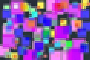 colorful squares by poisen2014