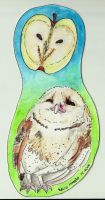 bookmark  with owl by schikaka