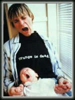 Kurt and Frances Cobain by SarahsWorld