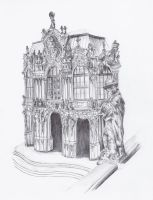 Ballpoint pen Architecture by Lin-who