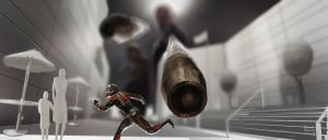 Ant-Man Key Art ( Miniature building Shoot out ) by Ubermonster