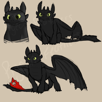 Toothless practice sketches by Pigeon-Feathers