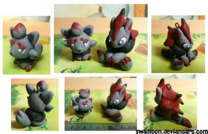 Chibi pm Sale CM: Zorua + Ma by Swadloon