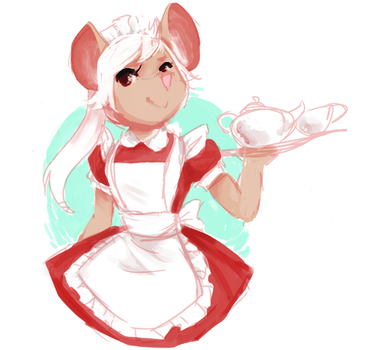 Mouse Maid! by skulltu